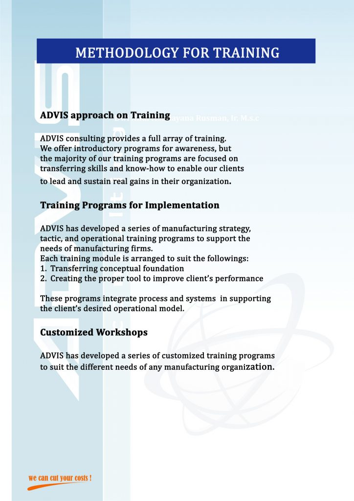 METHODOLOGY FOR TRAINING